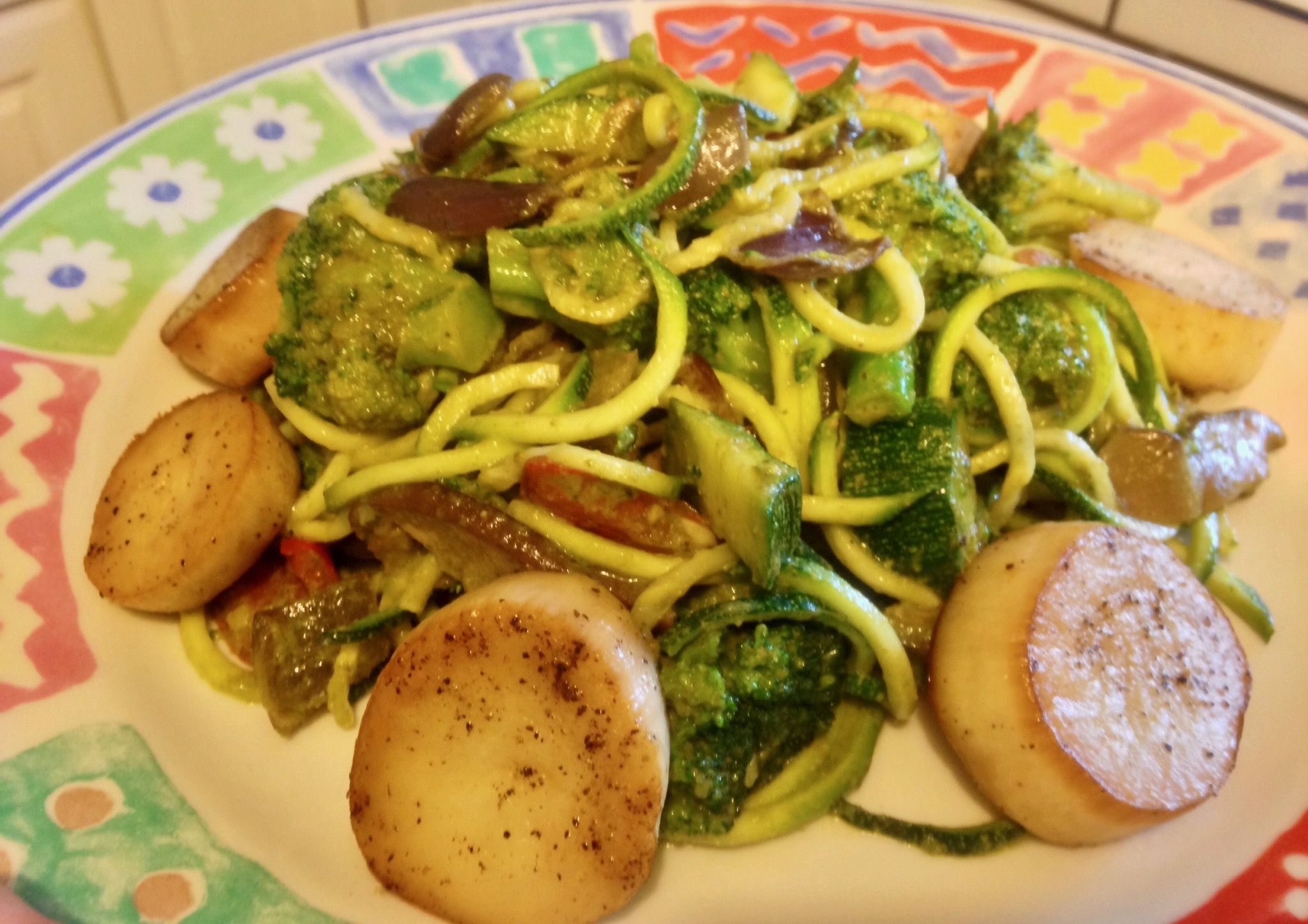 Vegan Scallops with Zoodles