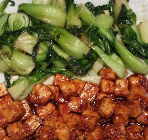 Soy Glazed Tofu and Bok Choy Stir Fry