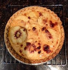 Peach and Cream Pie