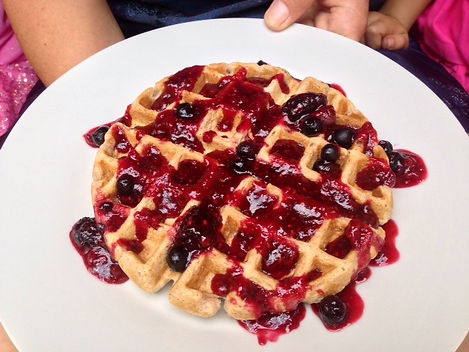 Waffles and toppings for Mother's Day!