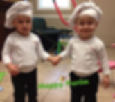 Rylan and Avery celebrate Purim