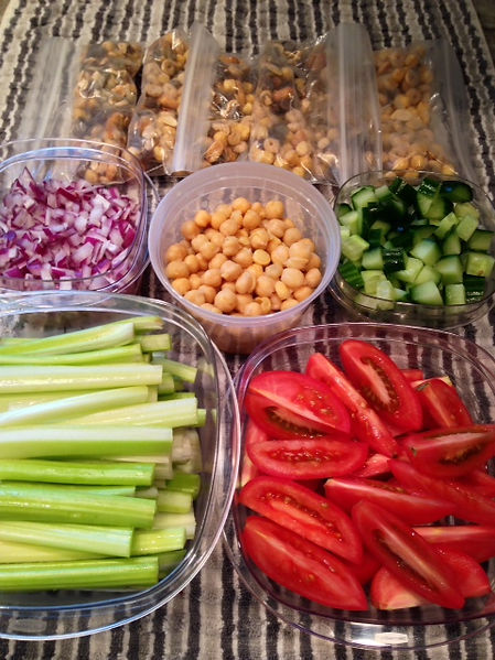Food Prepping ahead to save time and eat healthy