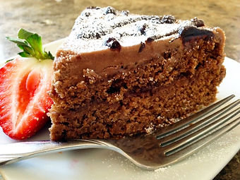 Chocolate Cake with Raspberry Filling an Mocha Frosting
