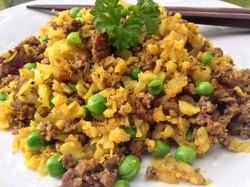 Cauliflower Turmeric Rice With Lamb