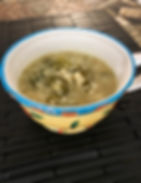 Smothered Cabbage and Arborio Rice Soup