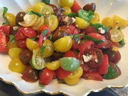 Tomato Salad with fresh garlic and basil