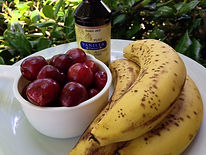 everydayhappyfoods|Bannas|cherries|vanilla