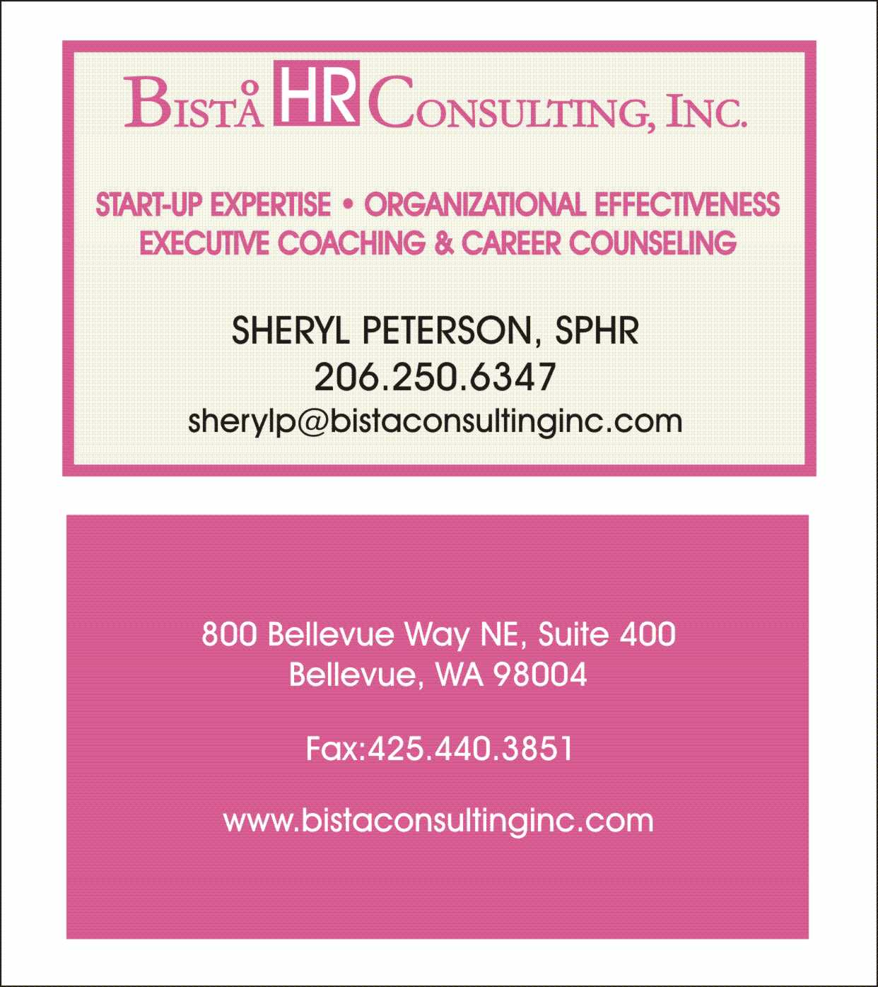 HR Consultant Logo Business Card