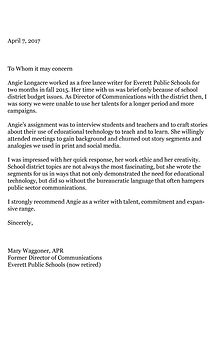 Letter of recommendation for Angie Longacre 5