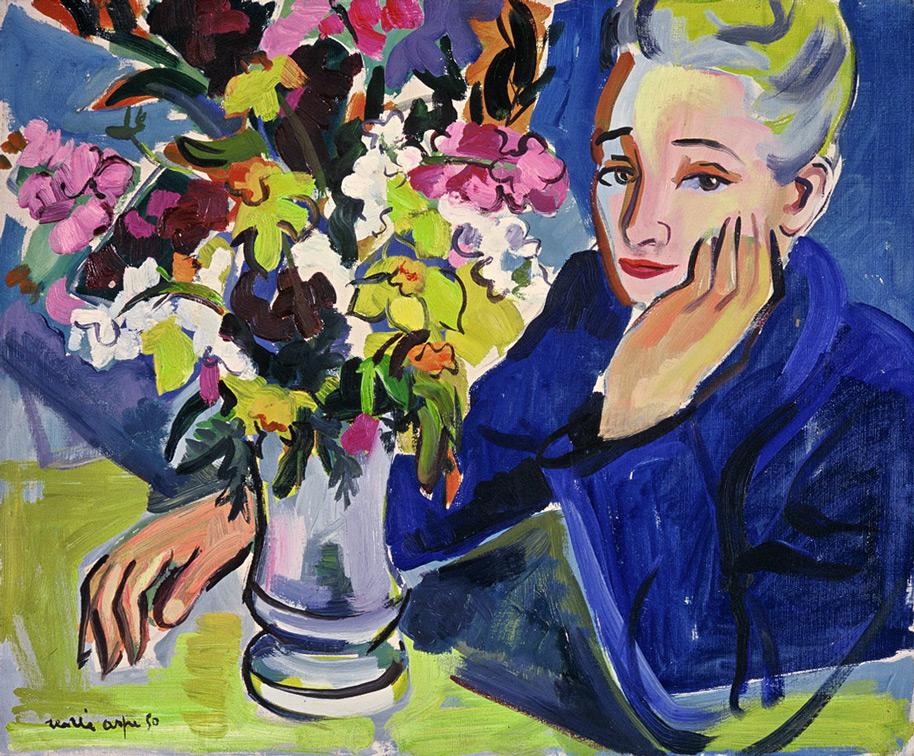 Mme Viviane Aspe, sa mère - Portraits © Renée Aspe
