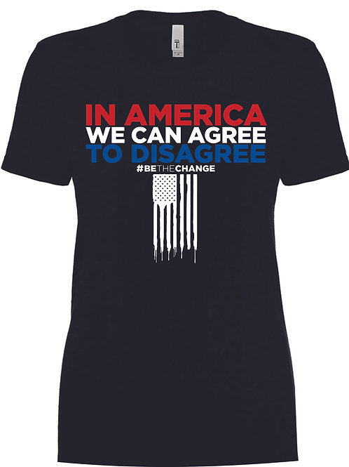In America We Can Agree to Disagree Women's Crew Neck T