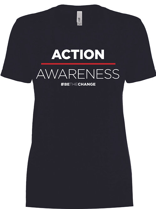 Action over Awareness Woman's Crew Neck  T