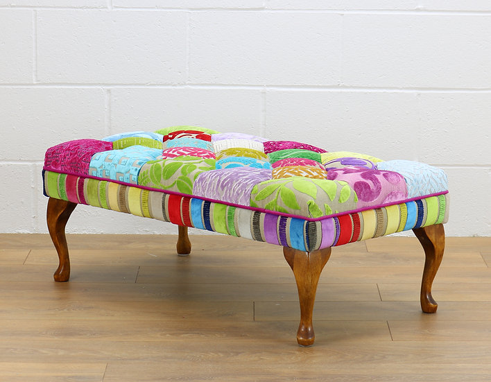 Madison patchwork stool