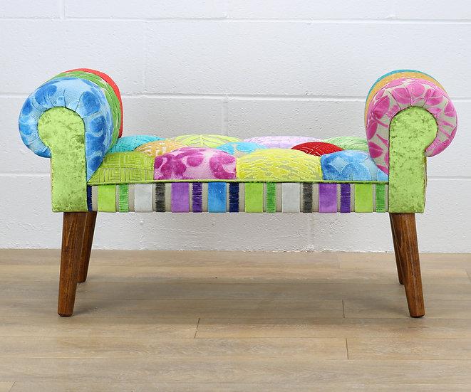 Lyon patchwork stool
