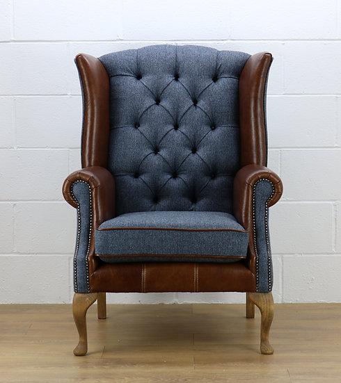 Harris Tweed chair custom