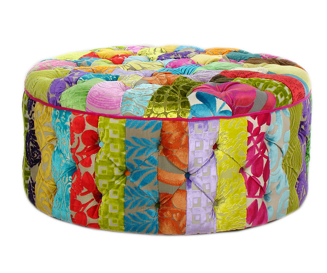 Amadeo patchwork ottoman