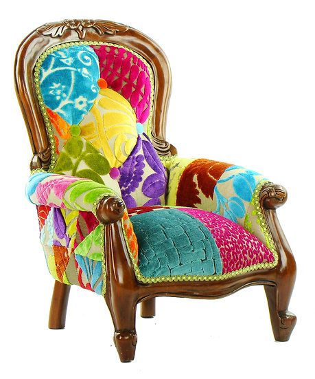 Grandfather patchwork child's chair