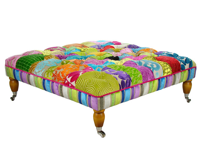 Florence patchwork stool
