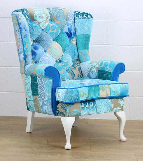 Blue Penshurst patchwork chair