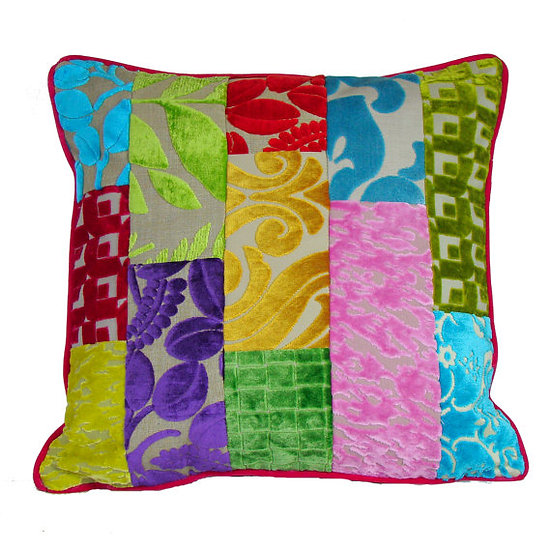 Designers Guild patchwork cushion