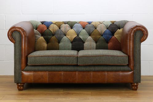 Harris Tweed Chesterfield Patchwork Sofa