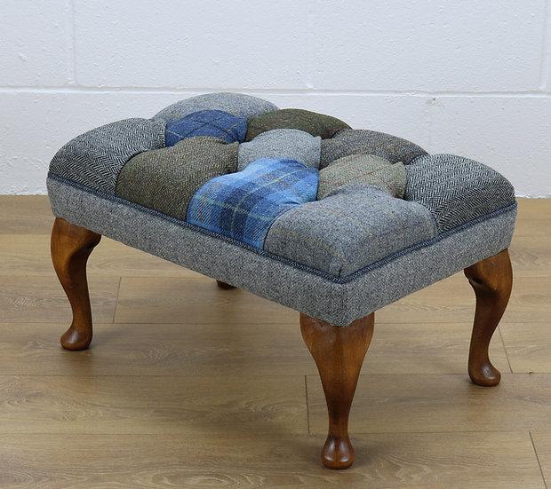 Harris Tweed patchwork stool