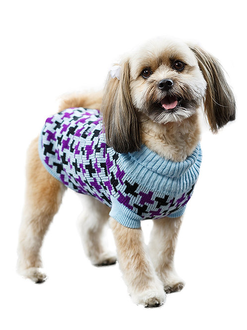 Blue / Purple Cross Checked Sweater