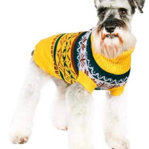 Yellow Fair Isle Vintage Sweater