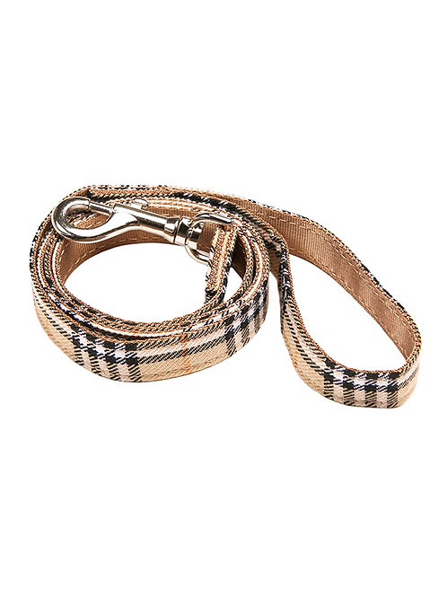Brown Checked Tartan Lead