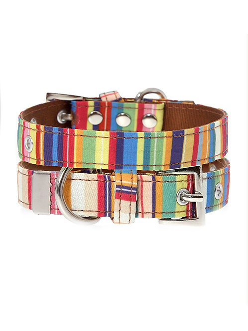 Henley Striped Collar