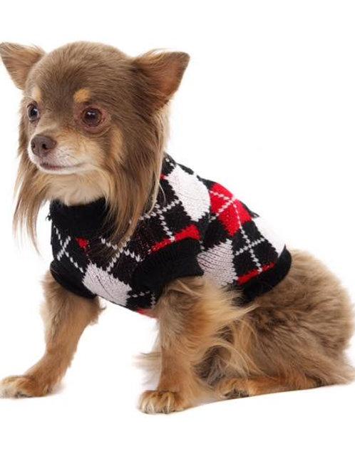 Red & Black Argyle Sweater