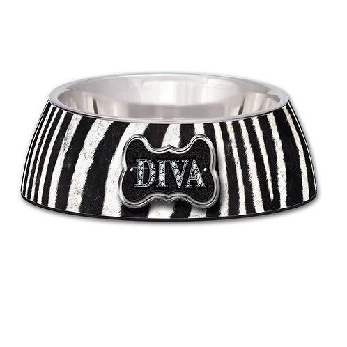 Zebra Striped Diva Milano Bowl