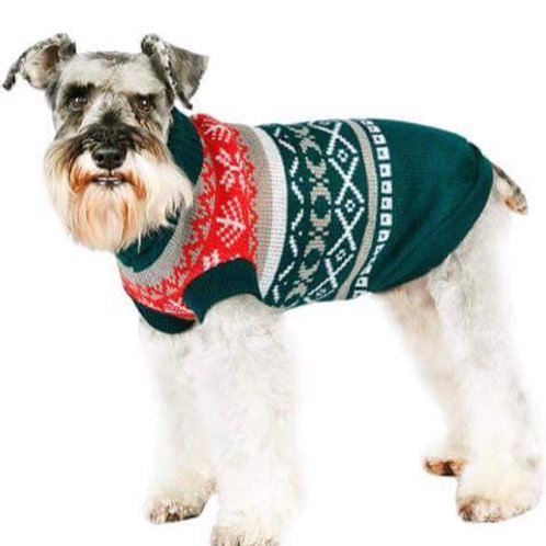 Green Fair Isle Vintage Sweater
