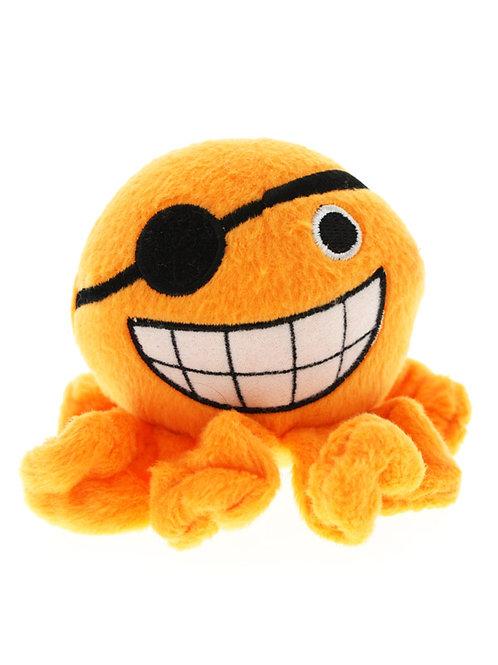 Orange Octopus Plush & Squeaky Dog Toy
