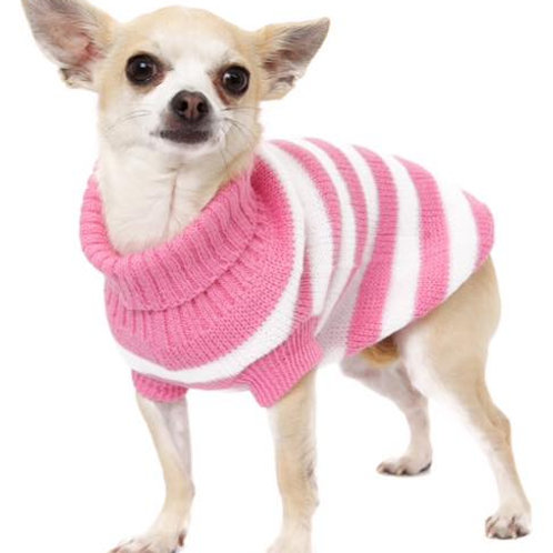 Candy Pink Striped Jumper