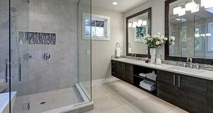 Salle de bain chic et simple