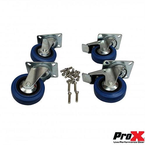 RUEDAS PROX SET 4 X-CASTER-4-BLUE