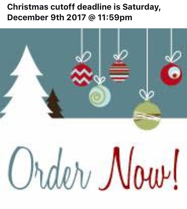 CHRISTMAS ORDER DEADLINE! Get your orders to me ASAP!!
