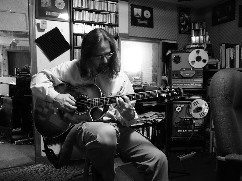 Andrew in the recording studio