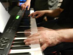 Playing the keys