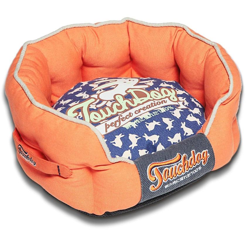 Lazy-Bones Rabbit Orange Dog Bed
