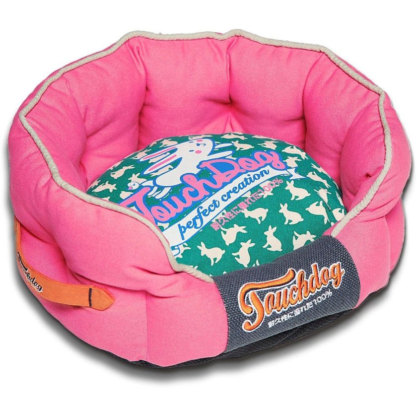 Lazy-Bones Rabbit Pink Dog Bed