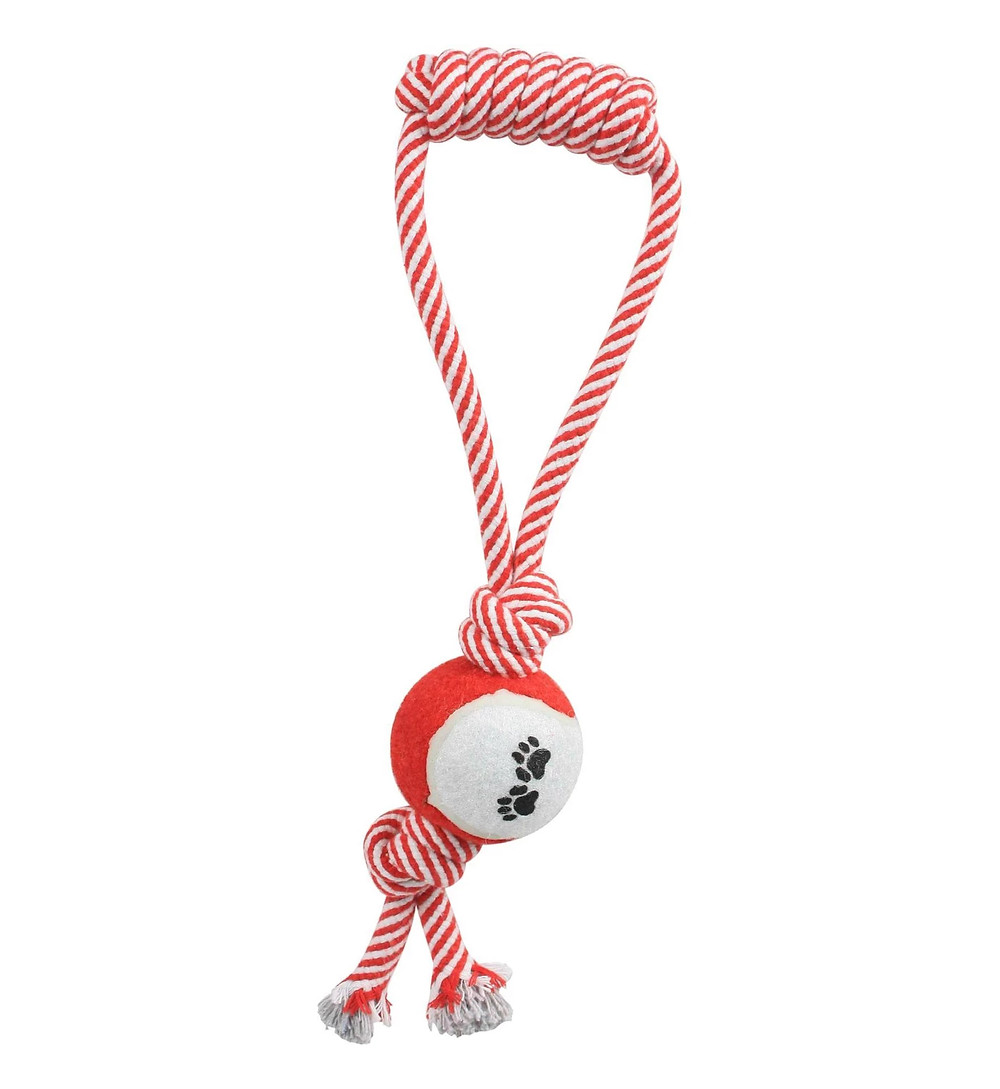 Pet Life Rope & Tennis Ball Toy
