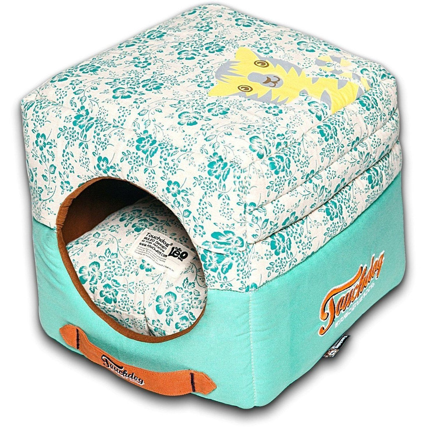 Floral-Galoral Collapsible Dog Bed