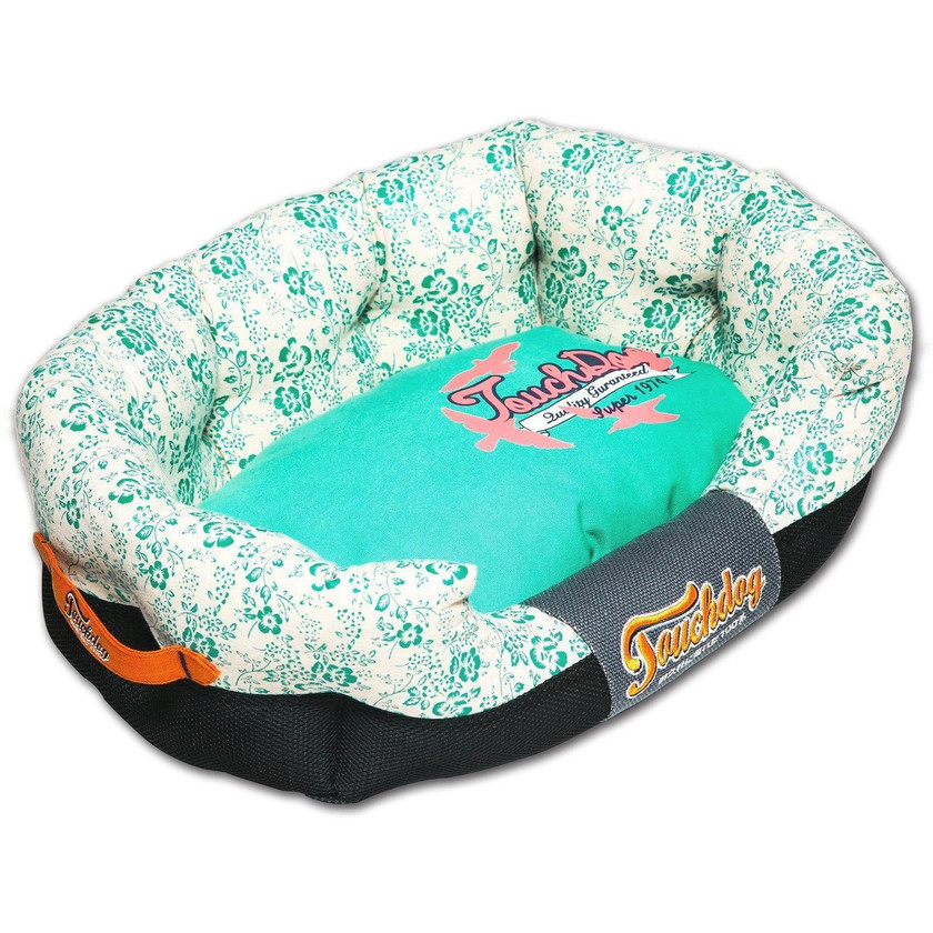 Floral-Galoral Rectangular Rounded Dog Bed