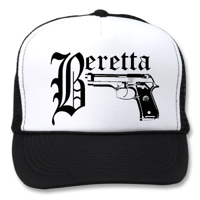 BERETTA WHITE/BLACK HATS