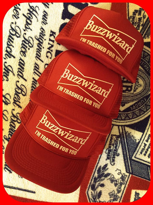 """BUZZWIZARD"" Budweizer look a like logo party hat"