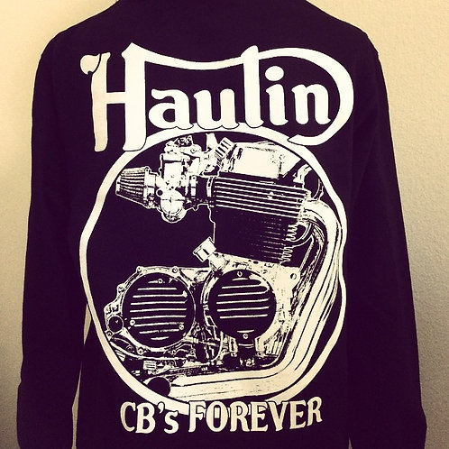 "Honda ""Haulin' CB's Forever"" black Engine Hoodies"