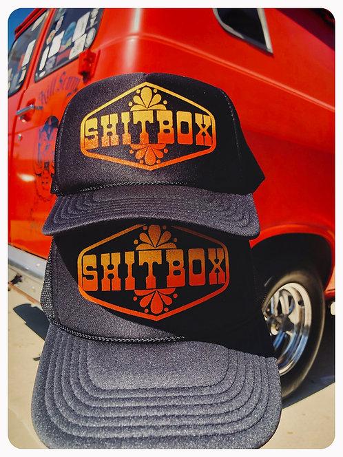 """SHITBOX"" black classic trucker hat"