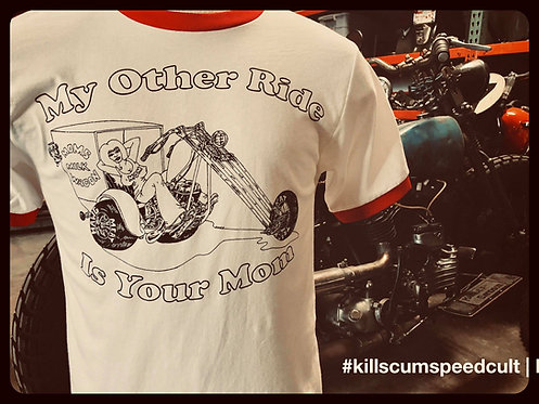 My Other Ride Is Your Mom Trike and boobie ringer shirt